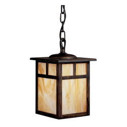 Kichler - Kichler Alameda Outdoor Chain Hung Lighting Fixture in Canyon View - Shown in picture: Outdoor Pendant 1Lt Fluoresc in Canyon View