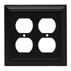 Liberty Hardware - Liberty Hardware 64210 Architectural WP Collection 4.96 Inch Switch Plate - A simple change can make a huge impact on the look and feel of any room. Change out your old wall plates and give any room a brand new feel. Experience the look of a quality Liberty Hardware wall plate. Width - 4.96 Inch, Height - 4.9 Inch, Projection - 0.2 Inch, Finish - Flat Black, Weight - 0.36 Lbs.