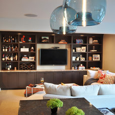 Contemporary Home Theater by JL Interior Design, LLC