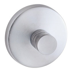 Smedbo - Studio Towel Hook in Brushed Chrome Finish - Concealed fastening. 2 in. W x 1.38 in. D x 2 in. H