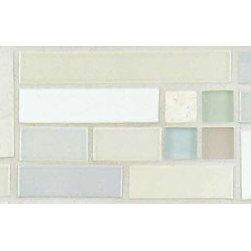 "Glass Tile Oasis - Fresh Air Border 4"" x 18"" White Tapestry Handmade Tile Glossy Ceramic - Sheet size:  4"" x 18""        Tiles per sheet:  26        Tile thickness:  1/4""        Grout Joints:  1/8""        Sheet Mount:  Plastic Face        Handcrafted Ceramic Tile       Sold by the piece        -  Shade and size variations are inherent characteristics in all handcrafted ceramic tile. Orders ship within 2-3 weeks."