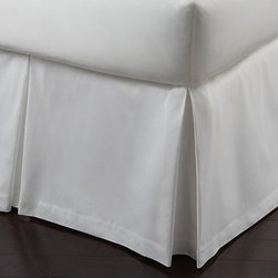 Frontgate - Soprano Sateen Paneled Bedskirt - 420 thread count. 100% Egyptian cotton. Machine washable. Read about The Peacock Alley Story. Demonstrate your impeccable taste with our Soprano Bedding Collection by Peacock Alley. This smart bedding ensemble is supremely stylish, surprisingly soft and enhanced with a classic blanket stitch hem. Soprano fits with virtually any bedroom ensemble. . . . . Imported.
