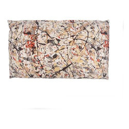 Designer Fluff - Pollock Pillow - If you love modern art and are looking for a fresh way to embrace it, this pillow is the perfect addition to your bedroom decor. Inspired by Jackson Pollock's drip paintings, this pillow features colorful splotches printed on gently textured fabric and comes in five sizes.