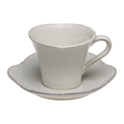 Casafina - Tea Cup/Saucer - The Meridian stoneware collection offers a wide variety of dinnerware items as well as serving pieces.