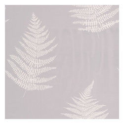 Graham & Brown - Verdant Grey Wallpaper - Soft botanical fern with stunning texture and mica deboss leaves.