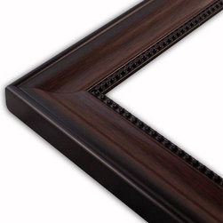 The Frame Guys - Silva-Walnut Black Picture Frame-Solid Wood, 8x8 - *Silva-Walnut Black Picture Frame-Solid Wood, 8x8