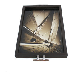 My Mez - Sailboat Tray/Wall Art with Cleat Handles - It's a tray; It's wall art. It's BOTH, and It's Made In the USA!