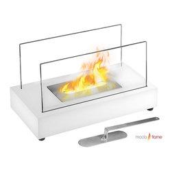 Moda Flame - Moda Flame Vigo Table Top Indoor Outdoor Ethanol Fireplace White - Moda Flame Vigo Table Top Indoor Outdoor Ethanol Fireplace White