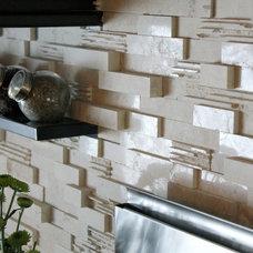 Modern Tile by aZura Stoneworks