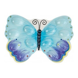 Courtyard Butterfly Egg Tray - Butterflies, eggs and spring all come together with this pretty butterfly platter that will certainly set a stylish table.
