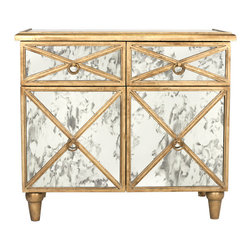 Worlds Away - Worlds Away - Humphrey Mirror Cabinet - Humphrey, Gold Leaf - Worlds Away - Humphrey Mirror Cabinet In Gold Leaf - HUMPHREY G