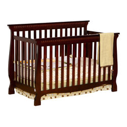Stork Craft - Stork Craft Venetian 4-in-1 Fixed Side Convertible Crib in Cherry - Stork Craft - Cribs - 04587134 - Experience nursery luxury at its very best with the Venetian 4 in 1 Fixed Side Convertible Crib by Stork Craft.This is a classic crib with graceful elegant curves and timeless design. The construction of the Venetian is sturdy the finish is gorgeous the design is stunning and the value is impressive. With secure static side rails this piece provides the ultimate in stability and function. This crib will grow with your child as it converts from a full size crib to a toddler bed to a daybed to a full-size bed (bed rails not included). Set-up this timeless piece effortlessly with its simple easy to follow assembly directions. Complete your nursery look by adding a Stork Craft changing table chest dresser or glider and ottoman.