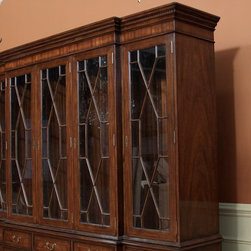 5 Door China Cabinet | High End Mahogany China Cabinet (LH 5 door) - Glass display case windows with a traditional design.