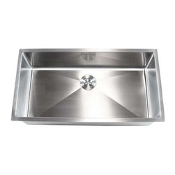 """Ariel - Stainless Steel Undermount Single Bowl Kitchen Sink - 16 Gauge, 36"""" - This full sized undermount single bowl kitchen sink is the perfect addition to your dream kitchen. Exterior Dimensions 36"""" x 19"""" x 10"""". Interior Dimensions 34"""" x 17"""" x 10""""."""