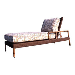 Woodard - Whitecraft by Woodard South Terrace Chaise Lounge - S610041 - Shop for Chaise Lounges from Hayneedle.com! Feel like the alii kane or king while reclining in the Whitecraft by Woodard South Terrace Chaise Lounge. In Hawaii bamboo is regarded with some reverence as one body form of the Polynesian creator god Kane. Perhaps this special consideration stems from the plant's strength and versatility. Capable of being as hard as steel bamboo has been used for centuries in constructing weaponry and furniture making it a terrifically strong structure for this particular chaise. This long chair gives you room to recline and rest while you soak in the sun. And its thick seat and back cushions offer hours of comfortable sitting and can be tailored to your personal tastes through a choice of fabric grades and colors and optional trim upgrades.All Seasons Outdoor Wicker is the latest addition to the Woodard line of quality furniture. Each piece is constructed using cutting-edge synthetic fibers that are hand-woven over the bamboo frame. With this combination of resilient weather-resistant materials and Woodard's quality workmanship All Seasons Wicker will retain its beauty and integrity for years.Woodard: Hand-crafted to Withstand the Test of TimeFor over 140 years Woodard craftsmen have designed and manufactured products loyal to the timeless art of quality furniture construction. Using the age-old art of hand-forming and the latest in high-tech manufacturing Woodard remains committed to creating products that will provide years of enjoyment.Most Woodard furniture is assembled by experienced professionals before being shipped. That means you can enjoy your furniture immediately and with confidence.Together these elements set Woodard furniture apart from all others. When you purchase Woodard you purchase a history of quality and excellence and furniture that will last well into the future.Important NoticeThis item is custom-made to order which means production begins im