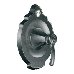 """Moen - Moen T2604PW Pewter Moentrol Valve Trim, 1-Handle 2-Function Balancing Cartridge - Moen T2604PW is part of the VESTIGE bath collection. Moen T2604PW is a new bathroom decor style by Moen. Moen T2604PW has a Pewter finish. Moen T2604PW Moentrol valve only trim fits any MPact common valve system or MPact Moentrol 1/2"""" Valve. Valve sold separately. Moen T2604PW is part of the Vestige bath collection with its richly detailed lines featuring nostalgic designs and accents that complement traditional decor for today's homes. Moen T2604PW valve trim includes dual-function pressure balancing Cartridge. Back to back capability. Moen T2604PW is a single handle valve trim only, the handle adjusts temperature and volume. Moen T2604PW valve only single handle trim provides for ease of operation. Moen T2604PW Moentrol pressure balancing valve maintains water pressure and controls temperature. Moen T2604PW is approved by ADA. Pewter is a new finish from Moen and provides style and durability. Moen T2604PW metal lever handle meets all requirements ofADA ICC/ANSI A117.1 and CSA to meet CSA B-125, ASME A112.18.1M. Lifetime Limited Warranty."""