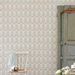 Albany Performance Wallpaper Collection - A retro styled wallpaper design featuring an all over geometric pattern.