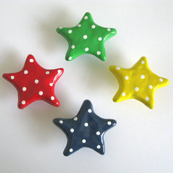 Light Blue Star Knob by Knobs - Star pulls for the kid's room dresser are so cute!