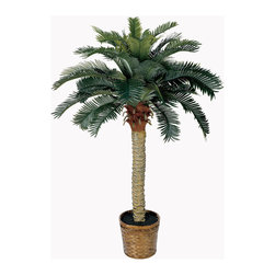 Nearly Natural - Nearly Natural 4' Sago Silk Palm Tree - Standing a perky 4 feet tall this palm-like tree is a fabulous tropical accent for your home or office. Sizeable enough to liven up any space yet compact enough to fit any size room. Not a detail was missed, from its dark olive green leaves down to the sturdy spiny trunk. This tree is so natural, you may be tempted to water it.