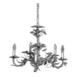 "Champagne Floral Chandelier - 19"" h x 27"" diam"