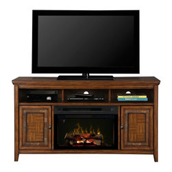 Dimplex - Dimplex Lynbrook Media Console with Electric Fireplace Multicolor - GDS25L-1410L - Shop for Fire Places Wood Stoves and Hardware from Hayneedle.com! The Dimplex Lynbrook Media Console with Electric Fireplace is a beautifully crafted console equipped with cutting-edge Multi-Fire XD technology for creating natural flame effects or ambient light displays. Built from hardwood solids and real ash veneers in a warm cinnamon finish this console is accented with slate inlay and antique brass hardware. Its appealing traditional style belies its innovative features which include exclusive gesture recognition technology and Dimplex's patented Comfort$aver ceramic heating system which provides exceptional energy efficiency via automatic fan speed and heater wattage adjustment. Available with your choice of lifelike Realogs or a bed of dazzling acrylic ice chunks this quality console and plug-in fireplace is backed by a one-year limited warranty from Dimplex.About DimplexDimplex North America Limited is the world leader in electric heating offering a wide range of residential commercial and industrial products. The company's commitment to innovation has fostered outstanding product development and design excellence. Recent innovations include the patented electric flame technology - the company made history in the fireplace industry when it developed and produced the first electric fireplace with a truly realistic wood burning flame effect in 1995. The company has since been granted 87 patents covering various areas of electric flame technology and 37 more are pending. Dimplex is a green choice because its products do not produce carbon monoxide or emissions.