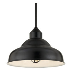 "THE OCTANE STEM MOUNT CEILING LIGHT - 24"" Octane shown in 91-Black Finish & LCGU-RIB Accessory"