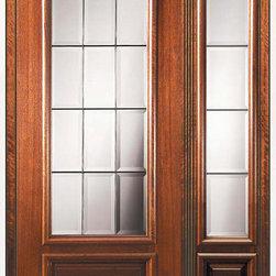 """Prehung Patio Sidelite Door 80 Wood Mahogany Patio 3/4 Lite Glass - SKU#P14652-G-DP34F1-1BrandGlassCraftDoor TypeFrenchManufacturer Collection3/4 Lite French DoorsDoor ModelFrenchDoor MaterialWoodWoodgrainMahoganyVeneerPrice4025Door Size Options  +$percentCore TypeDoor StyleDoor Lite Style3/4 LiteDoor Panel Style1 PanelHome Style MatchingDoor ConstructionPortobelloPrehanging OptionsPrehungPrehung ConfigurationDoor with One SideliteDoor Thickness (Inches)1.75Glass Thickness (Inches)Glass TypeTriple GlazedGlass CamingBlack , Satin NickelGlass FeaturesTempered , BeveledGlass StyleGlass TextureGlass ObscurityDoor FeaturesDoor ApprovalsWind-load Rated , FSC , TCEQ , AMD , NFRC-IG , IRC , NFRC-Safety GlassDoor FinishesDoor AccessoriesWeight (lbs)418Crating Size25"""" (w)x 108"""" (l)x 52"""" (h)Lead TimeSlab Doors: 7 Business DaysPrehung:14 Business DaysPrefinished, PreHung:21 Business DaysWarrantyOne (1) year limited warranty for all unfinished wood doorsOne (1) year limited warranty for all factory?finished wood doors"""