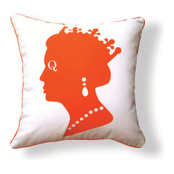 """Naked Decor - Queen Pillow, Orange & Brown - Size: 16""""x16"""""""