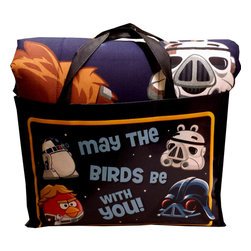 Jay Franco and Sons - Angry Birds Twin Bedding Set Star Wars Comforter Sheets - Features:
