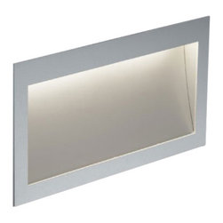 "Zen In M long Power wall recessed light - The Zen In M long Power wall recessed light was designed and made by Nimbus in Germany. This modern LED fixture is an efficient and elegant lamp that is perfectly suitable for near-ground installation for any use home or office. The light output of the Zen In M long Power is distributed 100% directly but asymmetrically with a radiation angle of approximately 60 . The fixture is an elegant rectangular and extremely flat surface mounted wall light with naturally anodised aluminium housing. Multiples conic identations, ultra-modern LED provide a total power of 6 watts integrated in the luminaire and spread a light output which is equivalent to the power of a 80 watts halogen bulb. The lamp is available in color temperatures of 2700 Kelvin (extra - warm white) 3000K (warm white) and 4000 Kelvin (neutral white). Also Zen In M long Power comes in cavity mounted version or with flush-mounted installation kit with or without converter space. An external converter is required and not included in the package - please order separately.         Product Details: The Zen In M long Power wall recessed light was designed  and made by Nimbus in Germany. This modern LED  fixture is an efficient and  elegant lamp that is perfectly suitable for near-ground installation for any use  home or office. The light output of the Zen In M long Power is  distributed 100%  directly but asymmetrically with a radiation angle of approximately 60 .  The fixture is an elegant rectangular and extremely flat surface mounted wall light with naturally anodised aluminium housing. Multiples conic identations, ultra-modern LED provide a total power of 6 watts integrated in the luminaire and spread a light output which is  equivalent to the power of a 80 watts halogen bulb. The lamp is available in color temperatures of 2700 Kelvin (extra - warm white) 3000K (warm white) and 4000 Kelvin (neutral white).  Also Zen In M long Power comes in cavity mounted version or with flush-mounted installation kit with or without converter space. An external converter is required and not included in the package - please order separately. Details:                         Manufacturer:            NIMBUS                            Designer:            Nimbus                            Made in:            Germany                            Dimensions:                        Length: 9.2""(234mm) X Width: 4.8""(122mm) X Depth: 0.08""(2mm)             Housing depth: 1.3""(32mm)                                         Light bulb:                        1x6W build-in LED                                         Material:            Aluminium"