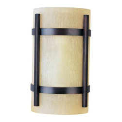 Maxim Lighting - Luna Outdoor Wall Sconce 85218-85219 by Maxim Lighting - Featuring beautiful creamy Wilshire glass, the Maxim Luna Outdoor Wall Sconce 85218-85219 provides a bright glow of fluorescent light for the front entry or back porch. The glass is secured by an aluminum frame finished in Oil Rubbed Bronze.Maxim Lighting, headquartered in California, offers high-quality lighting fixtures in a variety of designs, finishes, and glass styles that complement contemporary and transitional interiors.The Maxim Luna Outdoor Wall Sconce 85218-85219 is available with the following:Details:Wilshire glass shadeAluminum constructionOil Rubbed Bronze finishRectangular wall plateEnergy efficientUL Listed for wet locationsTitle 24 CompliantADA CompliantOptions:Size: Large, or Small.Lighting:Large option utilizes two 13 Watt 120 Volt Type GU24 Fluorescent lamps (included).Small option utilizes one 13 Watt 120 Volt Type GU24 Fluorescent lamp (included).Shipping:This item usually ships within 3-5 business days.