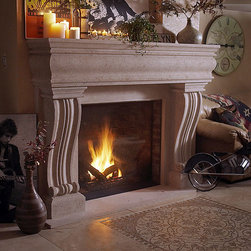 Claire Stone Fireplace Mantel - Lightweight and easy to install, the Claire Cast Stone Fireplace Mantel is a breeze to setup. A beautiful addition to your living room, choose from a number of stone finishes in both standard or custom sizes.