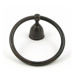 Stone Mill Hardware - Stone Mill Hardware Alexandria Collection Towel Ring - Oil Rubbed Bronze - Stone Mill Hardware Towel Ring - ORB