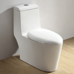 Atlas International Inc - Dual Flush Toilet - Ariel Royal - Modern Eco-Friendly One Piece White toilet. Ariel cutting-edge designed one-piece toilets with powerful flushing system. It's a beautiful, modern toilet for your contemporary bathroom remodel.