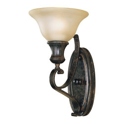 Murray Feiss - Murray Feiss WB1240LBR Liberty Bronze Cervantes 1 Light Wrought Iron Wall Sconce - Lamping Technology: