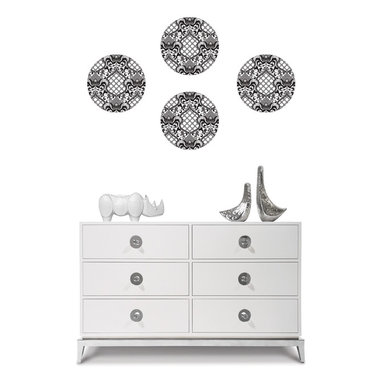 Nixon WallPops by Jonathan Adler Designer Wall Art - Black and white wall decals with a mid-century mod appeal. Designer wall art by Jonathan Adler for WallPops
