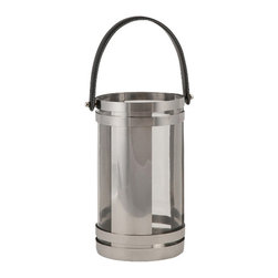 IMAX CORPORATION - Chandler Small Stainless Lantern - With modern styling and a quality stainless steel design, the small Chandler lantern adds style to any room. Holds pillar candles. Find home furnishings, decor, and accessories from Posh Urban Furnishings. Beautiful, stylish furniture and decor that will brighten your home instantly. Shop modern, traditional, vintage, and world designs.