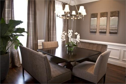 Gray wall with gray silk curtains and mirrors.jpg