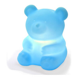 Offi Teddy Bear Graffiti Lamp, Blue - The soft glow from this bear light will soothe your baby in the dark.