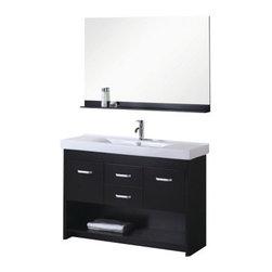"""Design Element - Design Element DEC074S Citrus 48"""" Single Sink Vanity Set in Espresso - Design Element DEC074S Citrus 48"""" Single Sink Vanity Set in Espresso"""