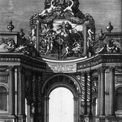 """Jean Le Pautre The Ceremonial Entry of Louis XIV Print - 16"""" x 24"""" Jean Le Pautre The Ceremonial Entry of Louis XIV and Marie-Therese into Paris in 1660 premium archival print reproduced to meet museum quality standards. Our museum quality archival prints are produced using high-precision print technology for a more accurate reproduction printed on high quality, heavyweight matte presentation paper with fade-resistant, archival inks. Our progressive business model allows us to offer works of art to you at the best wholesale pricing, significantly less than art gallery prices, affordable to all. This line of artwork is produced with extra white border space (if you choose to have it framed, for your framer to work with to frame properly or utilize a larger mat and/or frame).  We present a comprehensive collection of exceptional art reproductions byJean Le Pautre."""