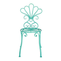 Urban Home Vintage Garden Seat in Teal - This beautiful 1950's replica will be the center of attention in any garden or entry.