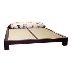 Haiku Designs - Tatami Platform Bed, Dark Walnut, King - Second image shows color option being purchased.