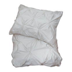 Natural Valencia Pintuck Duvet Cover, King/Cal King