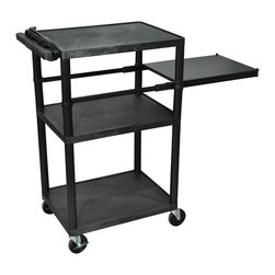 Luxor - Luxor Presentation Cart - LP42PE-B - Luxor LP series presentation station AV carts are made of recycled high density polyethylene structural foam molded plastic shelves that will not scratch, dent, rust or stain.