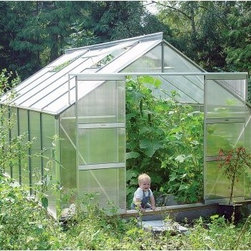 Juliana Compact 9.9 9 x 12.1-Foot Greenhouse - Additional features:Door dimensions: 48W x 68H inchesSidewall height: 4 ft.Peak height: 7.25 feet.Sturdy Scandinavian construction ensures frameswithstand toughest weather conditionsUV-coated polycarbonate panels are resistant tobreakage and offer 83% visible light transmissionRoof is slanted at 300 to drain away rain, offeringexcellent ventilationRoof windows can be opened horizontally forincreased ventilationIntegral gutter designed to take downpipesDetailed, illustrated assembly instructionsAll mounting hardware includedIf you ever dreamt about owning the perfect greenhouse, now is the time to do it with the Juliana Compact 9.9 9 x 12.1-foot Greenhouse. If you want great results for the growing season or throughout the year, then this greenhouse is perfect for you. Featuring advanced, twin-wall construction, the polycarbonate panels are capable of 40% better insulation than single pane glass. Virtually unbreakable, even against baseballs, rocks and hail, the panels ensure that they allow 83% light, while the UV coating ensures your plants are not adversely affected by the harmful rays of the sun. Designed to withstand the extreme conditions in northern climates, the sturdy, aluminum frame boasts a robust Scandinavian construction, which has 50% more strength than other frames. The convenient gasket locking system, which holds the polycarbonate panels to the frame, ensures that installation and taking down of the greenhouse takes just minutes. Simply slide in the panels and secure them with the gaskets included, and your greenhouse is ready for use. Four adjustable roof vents will allow for maximum air circulation, while double sliding doors will ensure easy entry and exit from your greenhouse. Thanks to the 12-year manufacturer's warranty, you can rest easy and enjoy your greenhouse without a care in the world. Whether you take gardening lightly or whether you are serious about it, the highly affordable Juliana Compact 6.5 7.16 x 9.75-foot Greenhouse makes no compromise in terms of quality. Assembly is a weekend project for one or two people.About Juliana GreenhousesJuliana has been a premiere greenhouse manufacturer for over 40 years, originating in Scandinavia and expanding into the U.S. with Juliana America in 1991. Juliana is currently the largest distributor of greenhouses in the U.S. and offers high-quality greenhouses and greenhouse kits at unbeatable prices. Juliana greenhouses and greenhouse kits combine weather-tough durability with experience-driven design, providing the optimal growing environment for plants.