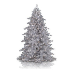 Tinkerbell Silver Christmas Tree - LET YOUR HOME SPARKLE THIS HOLIDAY WITH THIS TINKERBELL SILVER CHRISTMAS TREE FROM TREETOPIA
