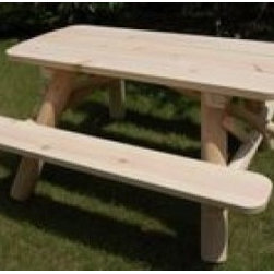 Moon Valley 5-inch Picnic Table Kit - Constructed of white cedar & white pine