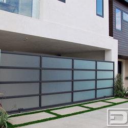 Dynamic Garage Door Modern Design Rolling Gate In A