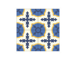 """""""Cruzada Especial"""" 8x8 Encaustic Cement Tiles - """"Make every space Count"""" with Rustico Tile and Stone, wholesale flooring, global shipping."""